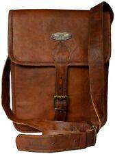 """Leather Messenger 15"""" Bag Shoulder Laptop Briefcase Men Vintage Satchel Genuine"""