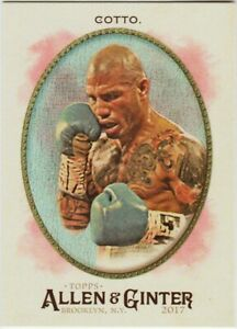 MIGUEL COTTO ROOKIE 2017 ALLEN & GINTER HOT BOX FOIL SP RC CARD # 284 PRO BOXING