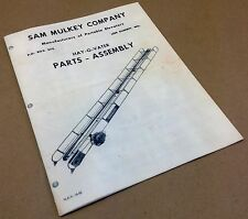 SAM MULKEY HAY-O-VATER ELEVATOR PARTS ASSEMBLY MANUAL CATALOG SQUARE BALE