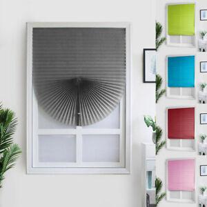 Self Adhesive Pleated Blinds Balcony Shades Office Home Window Bathroom Curtains