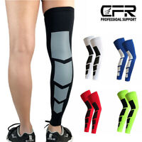 Knee Leg Sleeve Compression Brace Support Sport Pain Arthritis Relief Running HG