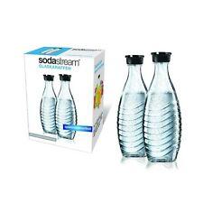 Glaskaraffe SodaStream Duopack Penguin Crystal Wassersprudler Flasche 2 je 0,6L