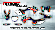 KTM Graphics Kit Decal Design Stickers SX SXF 125 250 350 450 2013-2015 13-15 MX