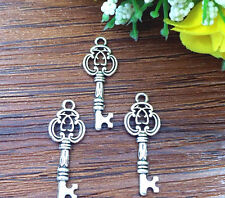 10pcs key Tibetan Silver Bead charms Pendants fit bracelet  26x10mm