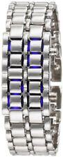NEW Sub-Zero Samurai Inferno Lava Steel Blue LED Digital Numbers Bracelet Watch