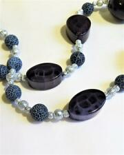 CG4970...FROSTED AGATE & ACRYLIC BEADED NECKLACE - FREE UK P&P