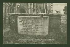 Christchurch Priory, Roger's Puzzle Tombstone - 1930's Printed Postcard