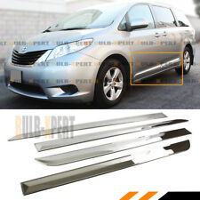 FOR:2011-17 TOYOTA SIENNA LE XLE STAINLESS STEEL SIDE BODY MOLDING MOULDING TRIM