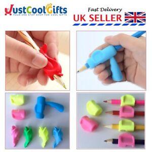 5 Soft Pencil Pen Grips Aid Control Handwriting Correction SEN Tool UK SELLER