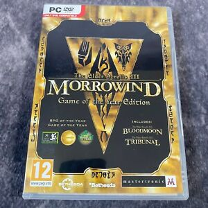 The Elder Scrolls III Morrowind Game Of The Year Edition PC Game Boxed DVD-Rom