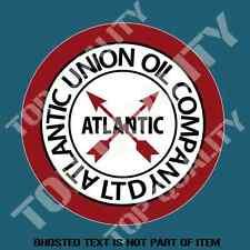 ATLANTIC UNION OIL CO LTD Decal Sticker Vintage Retro Hot Rod Rat Rod Stickers