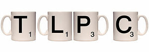 Personalised Scrabble Letters Mug Cup - Choose any letter, e.g. Q