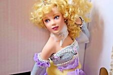 Most Stunning Porcelain Cinderella Doll Ready For The Ball By Franklin Mint  17""