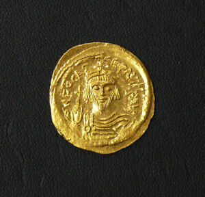 BYZANTINE ERA 602 - 610 AD GOLD SOLIDUS FOCAS AU/HIGH GRADE EXCELLENT STRIKE