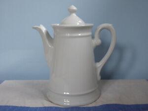 Antik Kaffeekanne 1,2 Liter Bareuther Bavaria Jugendstil Shabby Porzellan Weiß