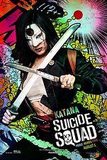 Suicide Squad Movie Poster (24x36) - Katana, Karen Fukuhara, Harley Quinn v22