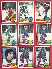 1980-81 O-Pee-Chee Hockey you pick 8 picks $2.00 EX and better