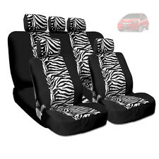 NEW PREMIUM GRADE BLACK MESH ANIMAL ZEBRA TIGER PRINT CAR SEAT COVERS FOR HONDA