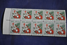 1930 Christmas Seal Booklet Pane with Printers Mark