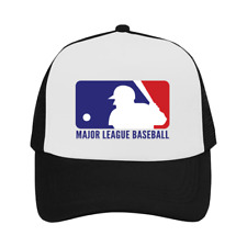 MLB Cap Major League Baseball USA Logo Trucker Hat Black Outdoor Sun