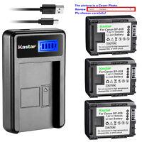 Kastar Battery LCD Charger for Canon BP-808 & Canon VIXIA HF S10, VIXIA HF S11