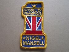 Mansell World Champ Cars Motors Automobilia Motorsport Cloth Patch Badge (L3K)