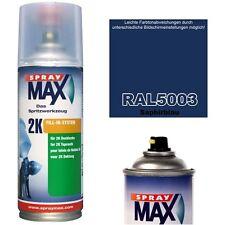 2K Lackspray RAL 5003 Farbe SAPHIRBLAU Glänzend Lack Sprühfarbe Acryllack 400ml