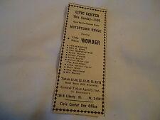 Stevie Wonder & others - concert Civic Center BALTIMORE MD  - 1963 newsprint ad