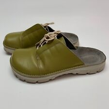 Birkenstock Alpro Sz 6 Green Leather Slip On Clog Artsy Red Lace Up Comfort
