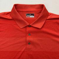 Grand Slam Polo Shirt Mens XXL Coral Stripe Short Sleeve Casual Golf