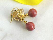 Ohrringe GOLDFLUSS Ohrhaken 925er Silber vergoldet Edelstein Perlen Ohrhänger