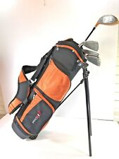 ⛳JUNIOR⛳ GOLF CLUBS PRO GEAR 5 Clubs with Stand Bag ages 8 - 10 Yrs #W798