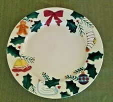 Hartstone Pottery Stoneware Christmas Plate Serving Platter Hand Painted 12 1/2""