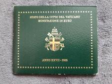 Coffret officiel BU Vatican 2005 VIDE
