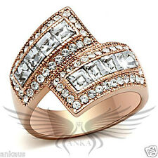 Classy Top Grade Crystal Cocktail Fashion Engagement Ring 4 5 6 7 8 9 10 Gl148