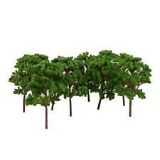 10pcs Landscape Scenery Green Trees Model Train Wargame Diorama OO HO 1:75