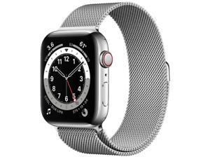 Apple Watch Series 6, GPS+CELL, 44 mm, Pulsera Milanese Loop plata
