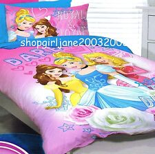Disney Princess - Dare to Dream - Single/US Twin Bed Quilt Doona Duvet Cover Set