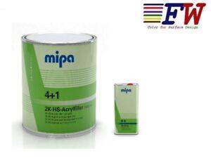Mipa 4+1 Füller - hellgrau mit Härter H 5 Autolack (SET) 4 l