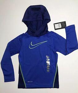 Nike Boys Dri-Fit Pullover Hoodie Lightweight Sz 4 Hyper Royal Blue $28
