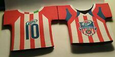 2- Miller Lite Beer Cooler # 10 Patrocinador Oficial Soccer Jersey Bottle Koozie