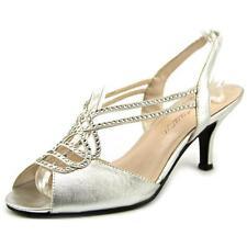 $85 size 7.5 Caparros Philomena Jewels Silver Slingback Wedding Sandals Shoes
