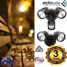 NEW 26W LED Twin Security Spot Flood Light Outdoor Sensor Black IP44 Waterproof