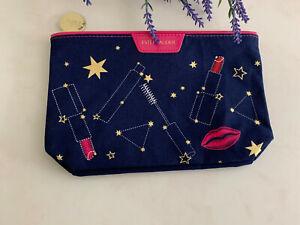 ESTEE LAUDER Lunar Star Moon Lipstick Cosmetic Makeup Bag  Blue and Pink