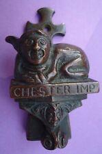 Antique Bronze or Brass Door Knocker Chester Imp