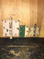 Mixed Lot of Vintage Door & Cabinet Hinges Hardware Rusty, Painted.