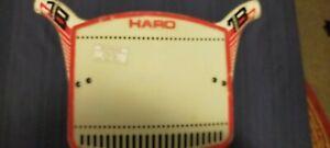 Bmx Haro race plate vintage old school BMX