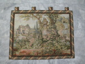 117 - Old French / Belgium Tapestry Wall Hanging - 103 x 80 cm