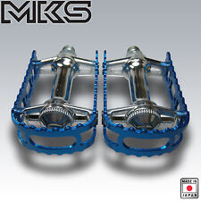 OLD SCHOOL BMX MKS PEDALS 9/16 BLUE NEW BM-7