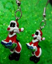 NORA WINN ~SYLVESTER ~ Earrings 925 Christmas LOONEY TUNES MOVIE CHARACTERS